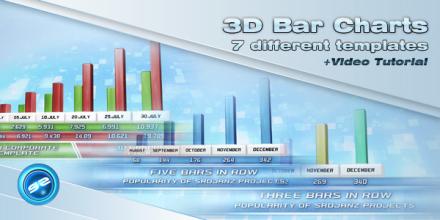 3D Bar Chart Templates